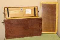 antique butterfly / insect collector frames adn wooden box 150827-9735_fin
