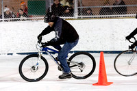 Icycle 2011 bicycle race on ice rink at Dufferin Grove Park, Toronto